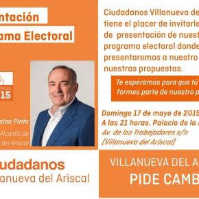 CIUDADANOS (C´S) Villanueva del Ariscal: Presentación programa electoral
