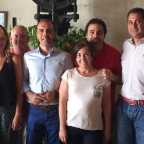 Visita al Grupo Municipal de C´s Bormujos del Diputado Provincial Javier Millán