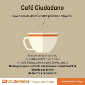Café Ciudadano en Valdezorras con Pablo Cambronero