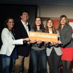 """Inés Arrimadas: """"Solo Ciudadanos tiene un proyecto común para España con las manos libres y limpias para hacer las reformas que se necesitan"""""""
