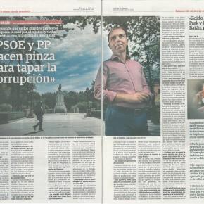 """Javier Millán en El Correo: """"PSOE y PP hacen pinza para tapar la corrupción"""" (Entrevista)"""