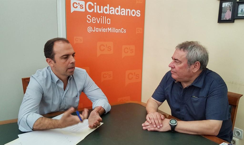 Millán con Benito Caetano Centanario Vuelta al Mundo