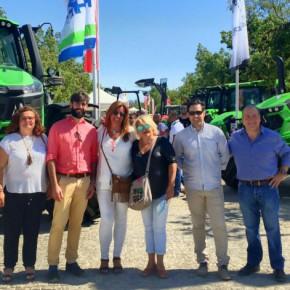 La subdelegada territorial de Ciudadanos en Sevilla, Mar Hormigo, visita Agroporc