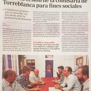 Ciudadanos pide la cesión de la abandonada comisaría de Torreblanca para fines sociales (Prensa)