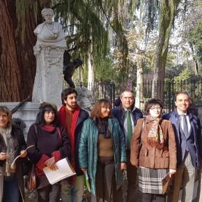 Millán (C's) se congratula por la recuperación de la glorieta de Bécquer y reitera su apuesta por el patrimonio