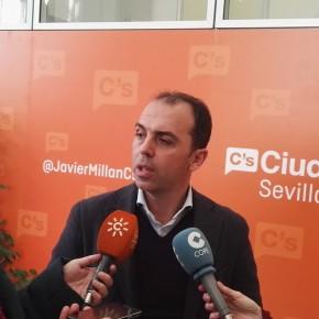 """Millán (C's) pregunta a Cabrera """"por qué el Ayuntamiento no hace nada ante la problemática del taxi en el aeropuerto"""""""
