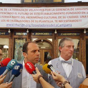 """Millán exige a Espadas que """"modifique la ordenanza para proteger a negocios tradicionales como La Campana"""""""