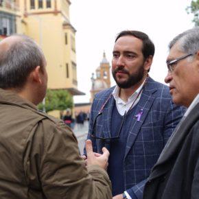 """Moraga (Cs) reclama """"una actuación integral para diferenciar el carril bici en San Jacinto y garantizar la seguridad de los peatones"""""""