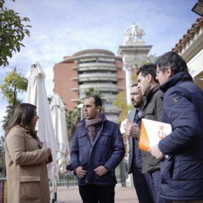 """Millán (Cs) reclama """"equipamientos públicos y transparencia total"""" ante el proyecto del depósito en los Jardines de Hércules"""