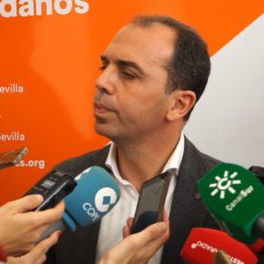 """Millán (Cs) denuncia que el PSOE """"miente e incumple con los sevillanos"""" y señala que """"no hay ningún avance real en el Metro"""""""