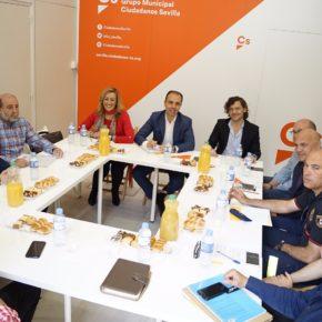"""Millán (Cs) quiere """"sumar a los empleados municipales a una estrategia de cambio para que Sevilla funcione"""""""
