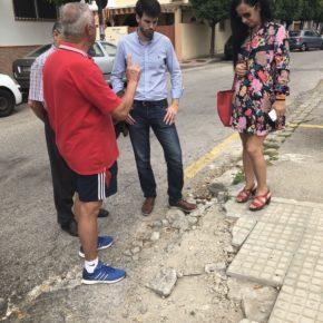 """Moyano (Cs) denuncia """"el abandono del entorno de la calle Alhami en Sevilla Este"""""""