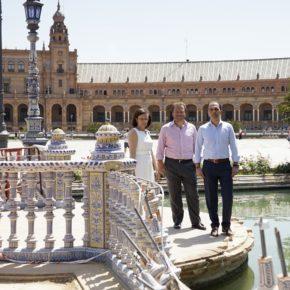 """Millán (Cs) denuncia """"el abandono y deterioro que sufre un emblema de Sevilla como es la Plaza de España"""""""