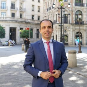 """Millán (Cs) insta a que el Ayuntamiento de Sevilla """"rechace públicamente las humillantes cesiones de Sánchez a los separatistas"""""""