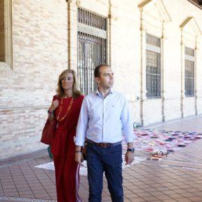 """Millán (Cs) denuncia que """"el PSOE se ha hecho cómplice de los destrozos y la venta ilegal en la Plaza de España"""""""