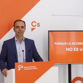 """Millán (Cs) exige a alcalde del PSOE que """"cumpla con los sevillanos y haga accesibles los parques infantiles"""""""