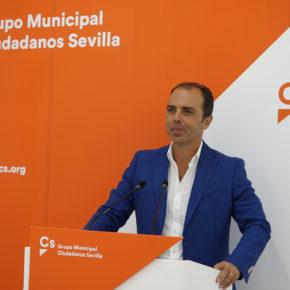 """Millán (Cs) afirma que """"los impuestos podían bajarse más si el gobierno del PSOE pensara en los sevillanos"""""""