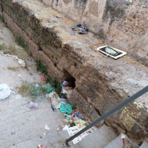 """Ciudadanos alerta de que la muralla de la Macarena """"se ha convertido en un basurero"""""""
