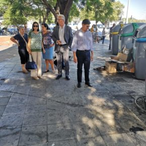 """Ciudadanos critica """"el olvido"""" al que el gobierno municipal tiene sometido al entorno de Plaza de Armas"""