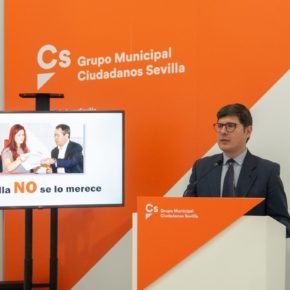 """Ciudadanos anuncia que dará un """"no rotundo"""" al presupuesto porque """"Sevilla no se merece un recorte en las inversiones"""""""