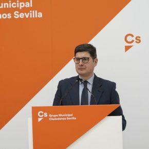 """Ciudadanos propone """"desbloquear"""" la ampliación del Tranvía a Santa Justa y pide una reunión al alcalde para """"buscar el acuerdo"""""""