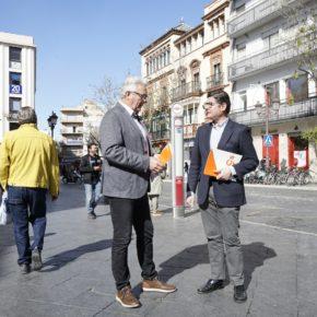 Ciudadanos pide adelantar a la primera quincena de mayo la instalación de los toldos de sombra en el Casco Antiguo
