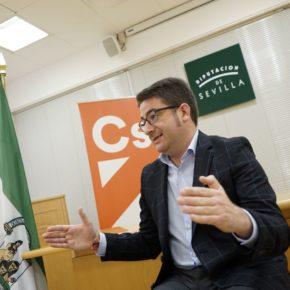 Ciudadanos propone que Diputación de Sevilla active un paquete de ayudas urgente y a fondo perdido para autónomos y pymes