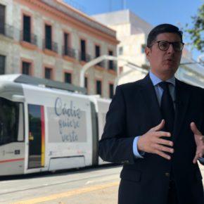 """Pimentel asegura que la ampliación del tranvía supondrá """"una gran revolución verde"""" para los vecinos de Nervión"""