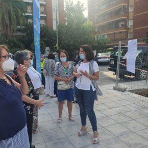 """Ciudadanos reclama retirar el transformador de la Plaza Rafael Salgado yndenuncia """"el déficit de sombra"""" del espacio"""