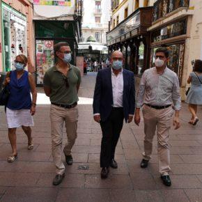 """Ciudadanos destaca """"el esfuerzo"""" del comercio para """"adaptarse a la Sevilla post-Covid"""" y pide """"aumentar las ayudas municipales"""""""