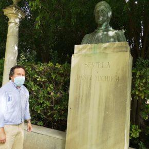 """Ciudadanos lamenta """"el mal estado de conservación"""" de la Glorieta de Dante en el Parque de María Luisa"""