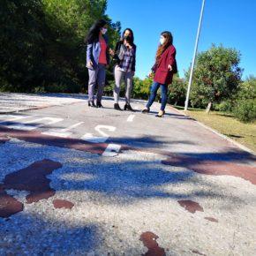 """Ciudadanos denuncia el """"riesgo"""" que suponen """"las grietas y socavones"""" del carril bici del Parque del Tamarguillo"""