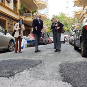 """Ciudadanos advierte de la """"mala ejecución"""" de las obras de reasfaltado en el barrio de Nervión"""