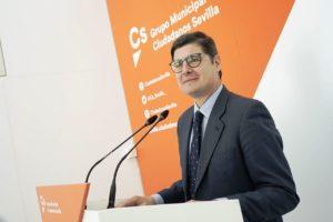 """Pimentel: """"Los sevillanos saben que Ciudadanos en el gobierno andaluz es garantía de protección a los más vulnerables"""""""