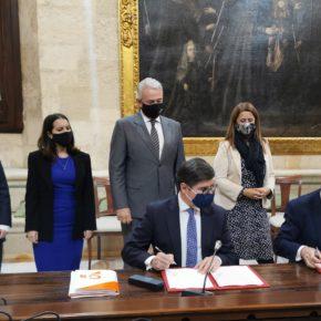 """Pimentel (Cs): """"El presupuesto de 2021 será el salvavidas que necesita Sevilla para iniciar la reactivación económica y social"""""""