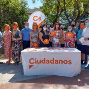 """La ruta de la #IlusiónNaranja hace una parada en Mairena del Aljarafe para respaldar el """"trabajo útil"""" de Ciudadanos"""