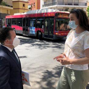 """Ciudadanos reclama al gobierno """"medidas"""" para """"reforzar la seguridad de los peatones"""" en la Plaza Ponce de León"""
