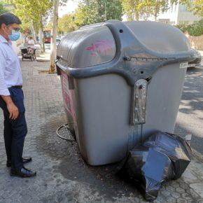 """Ciudadanos denuncia """"un repunte de la suciedad en las calles y los contenedores"""" de Bami y Reina Mercedes"""