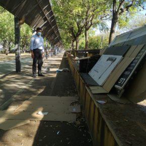 """Ciudadanos denuncia """"el estado de insalubridad"""" del bulevar de Alcalde Manuel del Valle, convertido en un """"estercolero"""""""